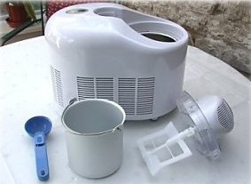 ice cream maker showing main parts