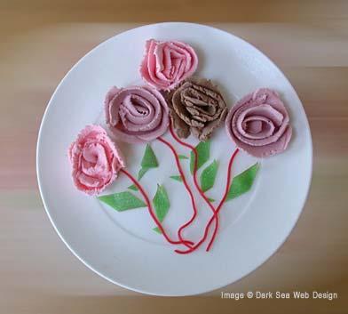 ice cream flowers sculpture
